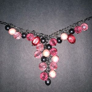 Accessories - A Multi- Shaded Pink and Charcoal Necklace